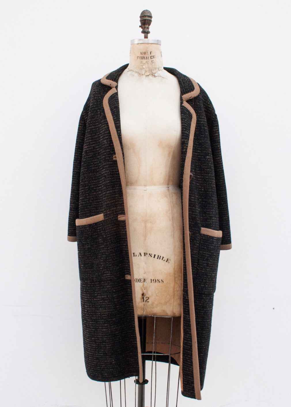 Black Wool Speckled Coat