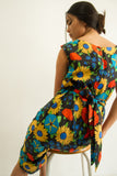 1960s Floral Joan Leslie Shift Dress