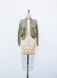 Sage Wool Bomber Jacket