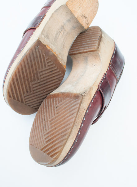 Oxblood Leather Clogs | 35/5