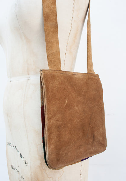 Suede Sunburst Shoulder Bag
