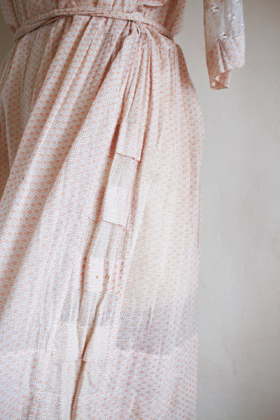 1920s Blush Print Day Dress