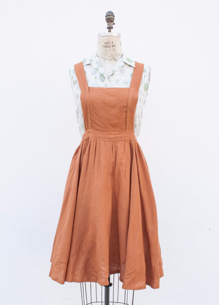 Pumpkin Pinafore Dress