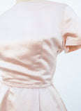 Baby Pink Metallic Party Dress