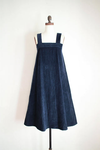1970s Navy Corduroy Tent Dress