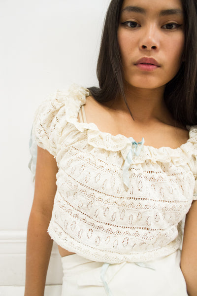 1930s Hand Crochet Mexican Blouse