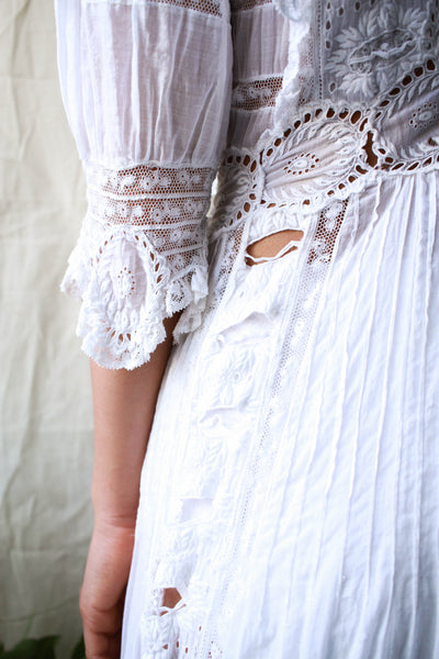 Edwardian Cutout Lace Lawn Dress