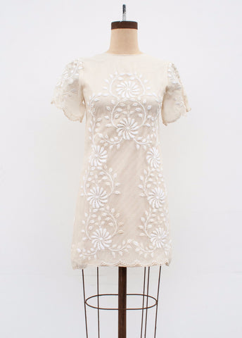 Cream Lace Philippine Nylon Dress