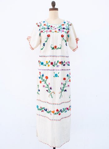 1970s Oaxacan Embroidered Dress