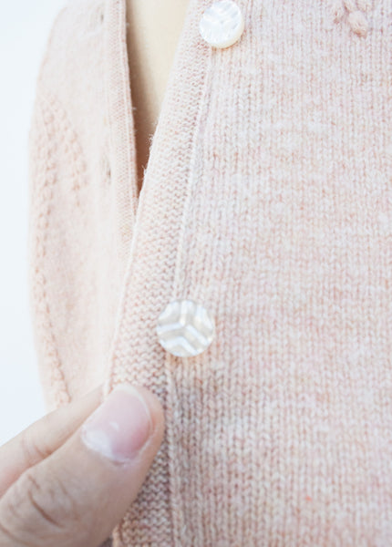Blush Pink Embroidered Cardigan