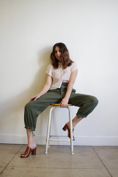 1970s Green Utility Trousers