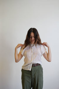 1960s Gunne Sax Batiste Cotton Blouse