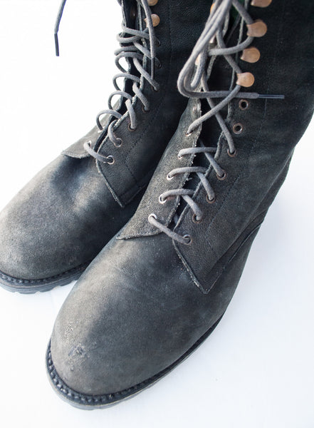 Suede DKNY Lace-up Boots | 6.5