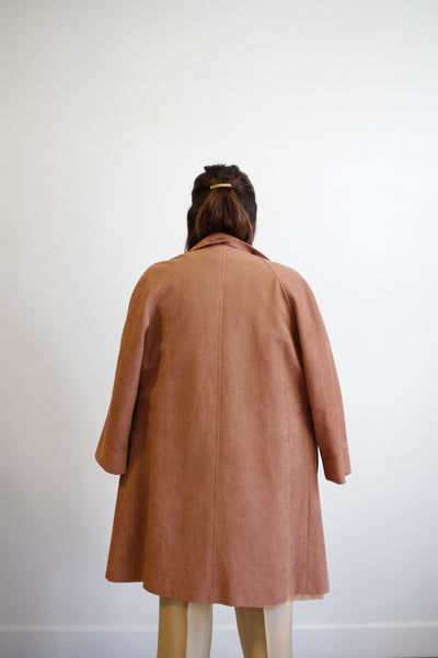 1970s Micro-Suede Blush Coat