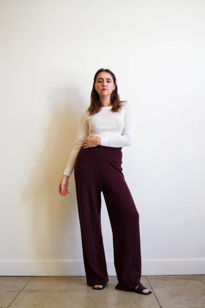 1980s Burgundy Cashmere Lounge Pants