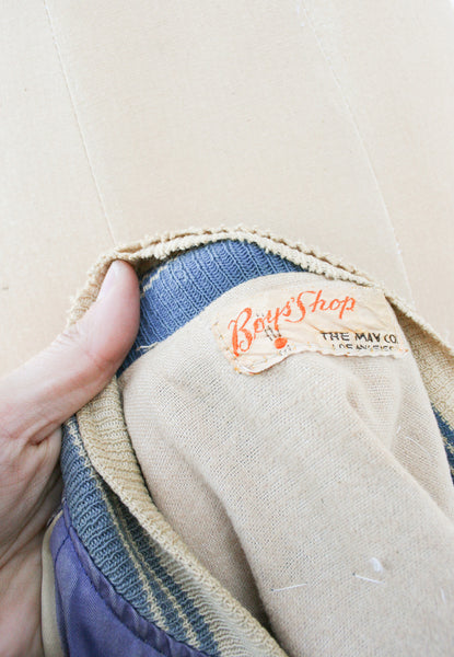 1930s Silk Custom Patched Bomber Jacket
