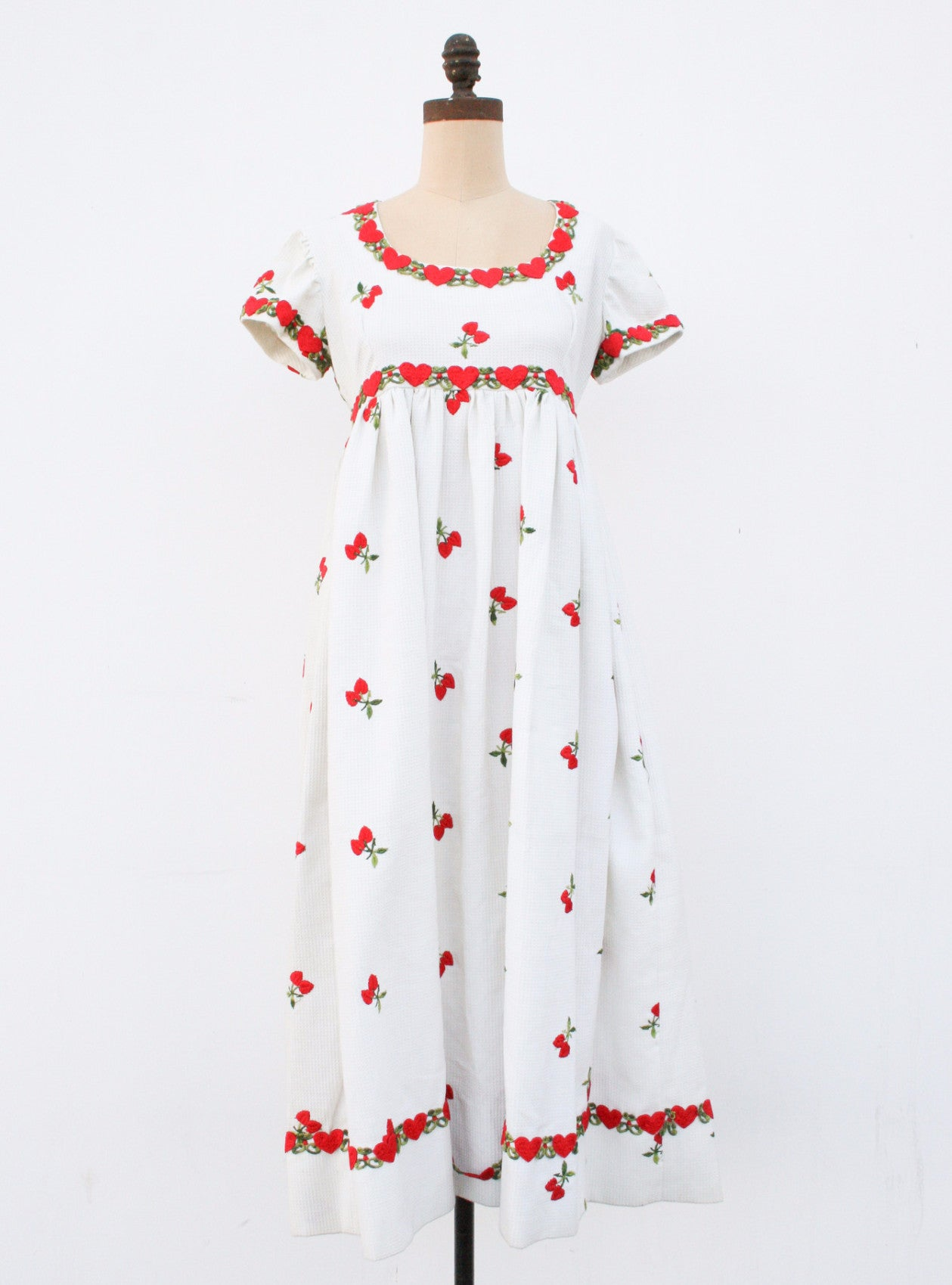 1960s Heart Embroidered Dress