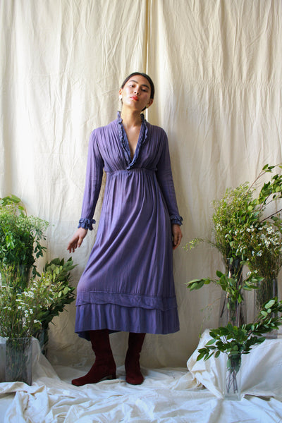 Edwardian Gauzy Iris-Dyed Dress