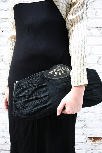 1930s Layered Woven Clutch Bag