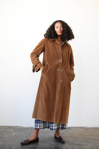 1970s London Fog Brown Corduroy Trench Coat