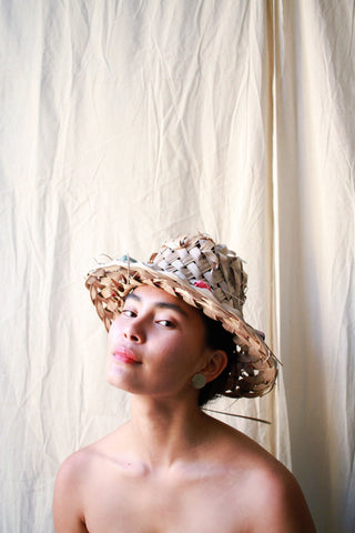 Natural Coconut Palms Hawaiian Woven Berry Hat