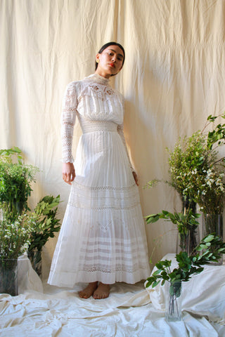 Edwardian Eyelet Lace Lawn Dress