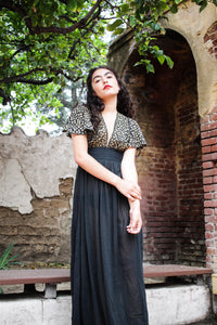1970s Judy's Gauzy Embroidered Maxi Dress
