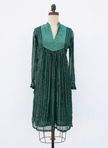 1970s Quilted Sheer Rayon Tunic