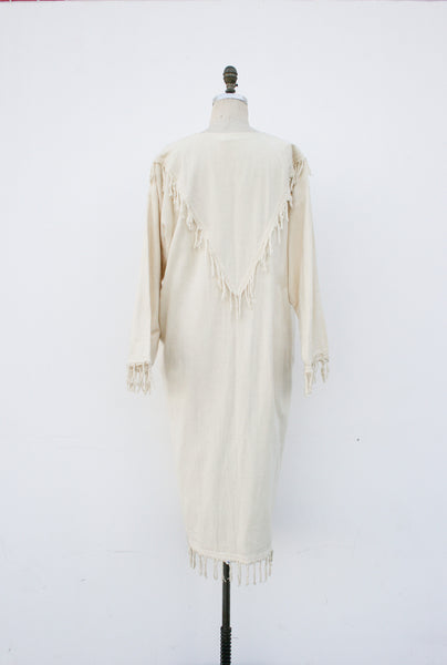 1970s Mexican Fringe Duster Coat
