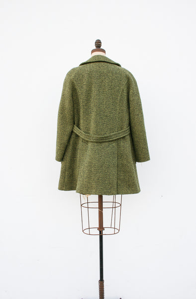 1960s Green Tweed Coat