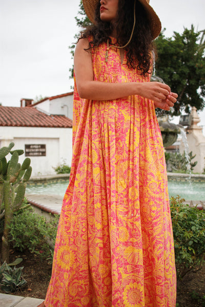 1980s Viva Bold Layered Print Maxi Dress