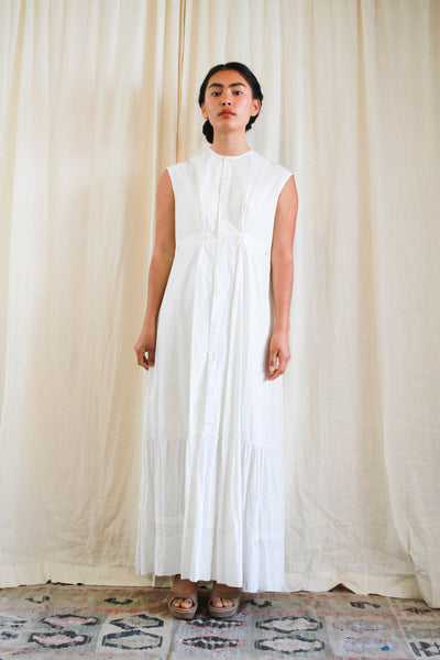 Antique Cotton Button Up Maxi Dress