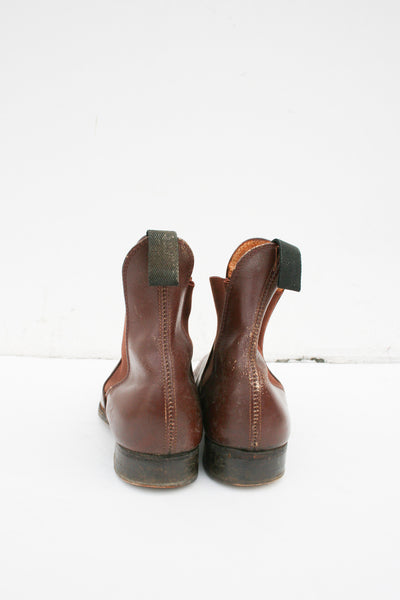1950s Brown Leather Chelsea Boots | 6.5