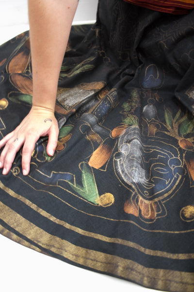 1950s Hand-Painted Mexican Kent Circle Skirt