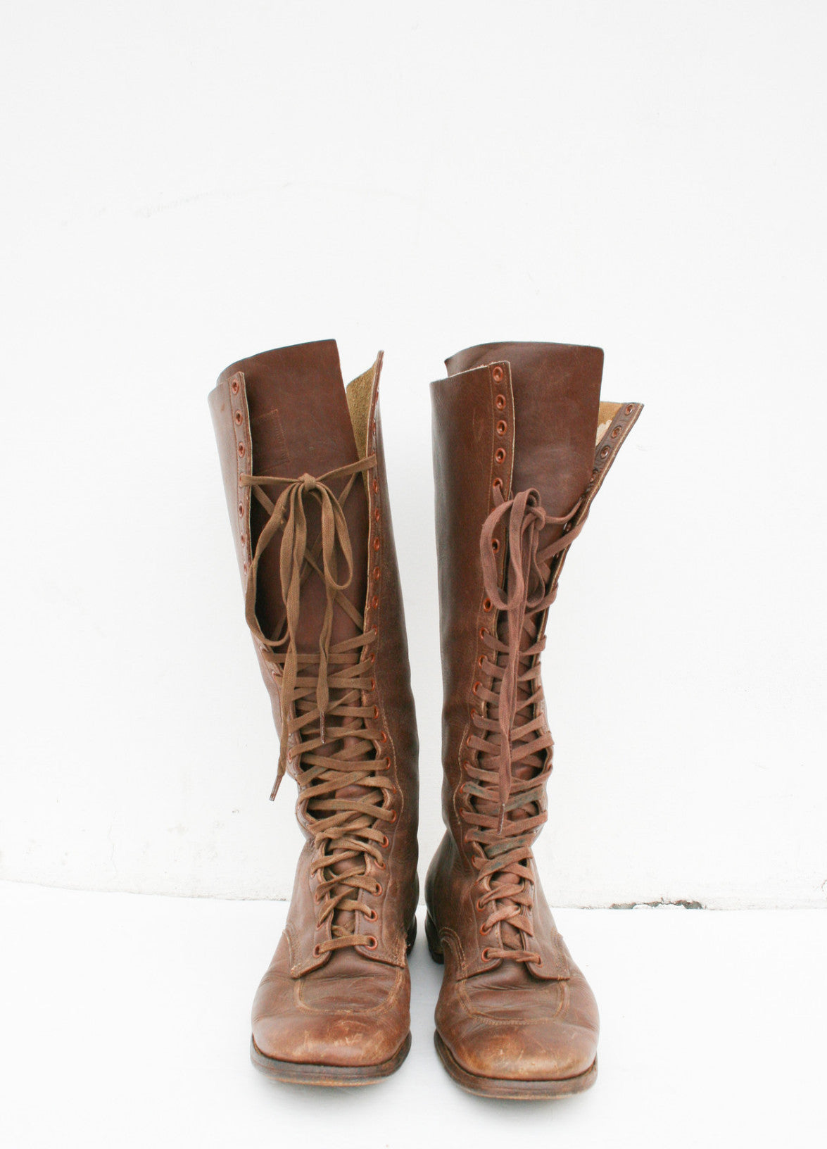 1920s Hi-King Tall Leather Boots | 7.5