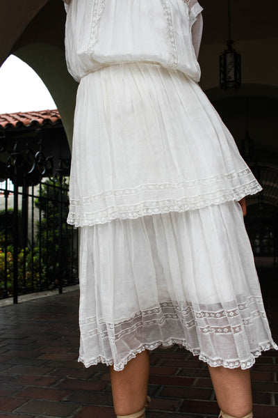 Edwardian Tiered Batiste Lawn Dress