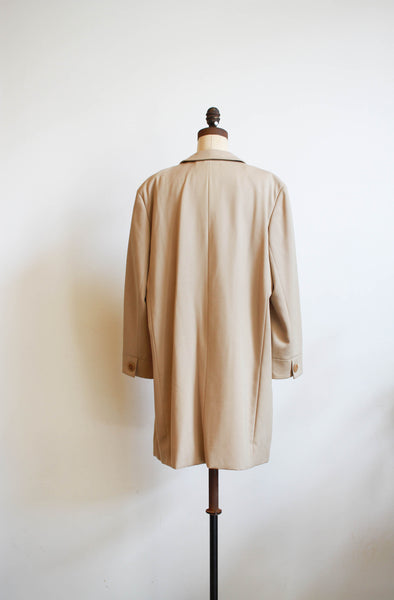 1980s Giorgio Armani Beige Structured Long Blazer