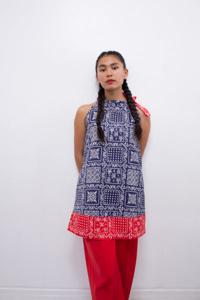 1960s Paisley Patchwork Print Dress