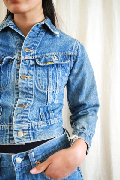 1960s Lee Distressed Denim Crop Jacket