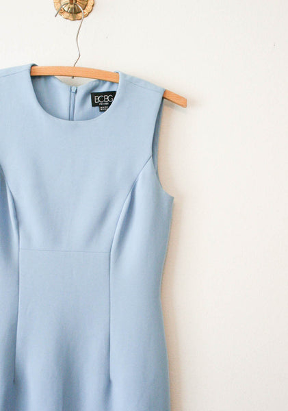 BCBG Baby Blue Fitted Tank Dress