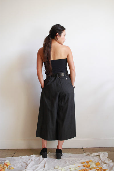 1990s Jean Paul Guiltier Pinstripe Crop Pants