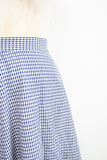 1980s Navy Gingham Aline Skirt