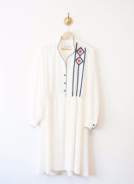 Ivory Silk Lilli Ann Shirt Dress