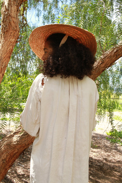Antique French Heavy Linen Smock Tunic