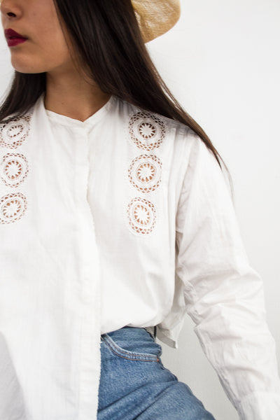 Turn of the Century Cotton Crochet Blouse