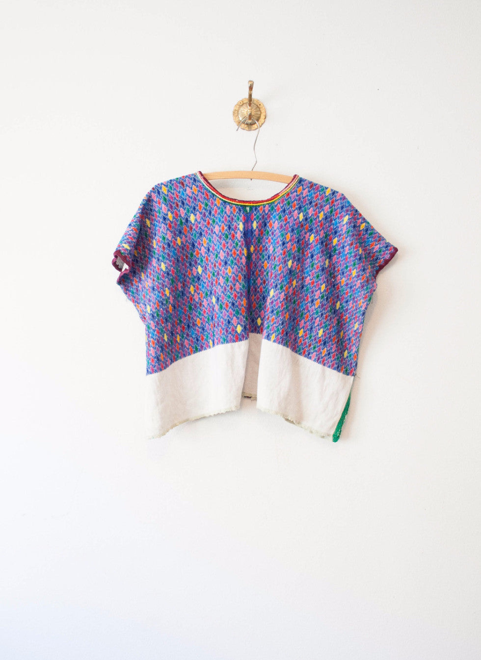 Guatemalan Multicolored Woven Huilpil Top