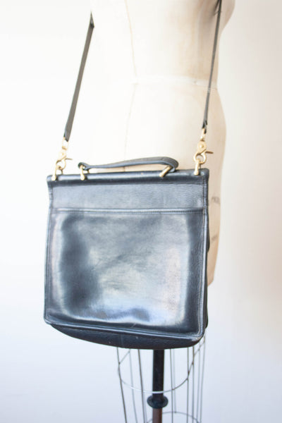 Black Leather Coach Crossbody Bag | Reserved