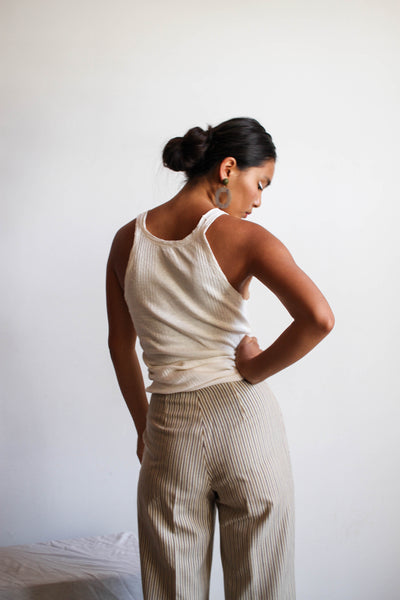 1930s Soft Worn Cotton Ribbed Tank