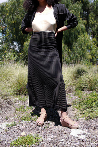 1990s Jean Paul Guiltier Layered Striped Skirt
