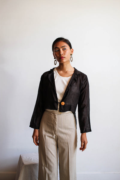 Edwardian Black Lightweight Tailcoat Crop Jacket